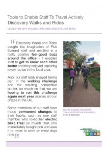 A case study of Pick Everard's experience of the Discovery Walks & Rides tool