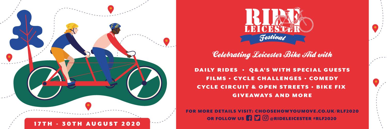 Ride Leicester Festival banner